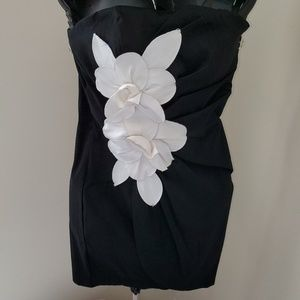 My Michelle Black and White Prom or Evening Dress